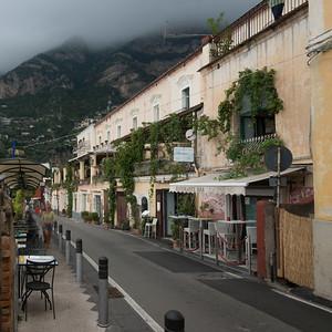 Buildings along street, Positano, Amalfi Coast, Salerno, Campania, Italy
