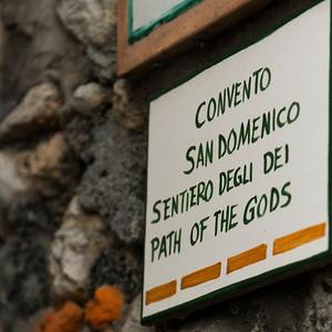 Information sign, Praiano, Amalfi Coast, Salerno, Campania, Italy
