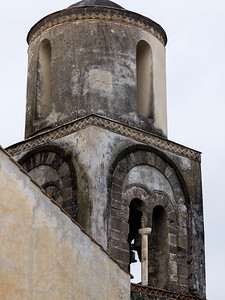 Low angle view of a bell tower, Ravello, Amalfi Coast, Salerno, Campania, Italy