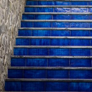 Detail of staircase, Ravello, Amalfi Coast, Salerno, Campania, Italy