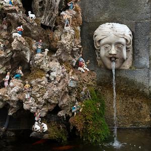 Fountain with figurines, Amalfi, Amalfi Coast, Salerno, Campania, Italy