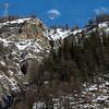 Snowcapped mountain range, Alpine Resort, Aosta Valley, Courmayeur, Northern Italy, Italy