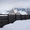 Fence at ski resort, Alpine Resort, Aosta Valley, Courmayeur, Northern Italy, Italy