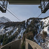 Ski resort lift cables, Alpine Resort, Aosta Valley, Courmayeur, Northern Italy, Italy
