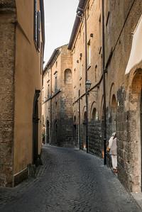 Buildings along a narrow street, Orvieto, Terni Province, Umbria, Italy