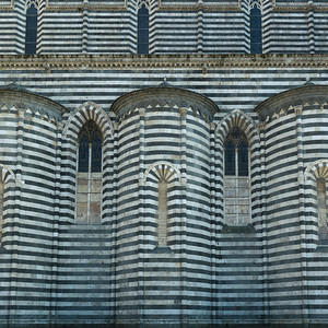 Architectural detail of the Orvieto Cathedral, Orvieto, Terni Province, Umbria, Italy