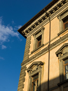 Low angle view of the faade of a building, Orvieto, Terni Province, Umbria, Italy
