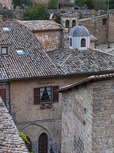 Elevated view of buildings, Orvieto, Terni Province, Umbria, Italy