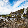 The Oxararfoss Waterfalls. Pingvellir