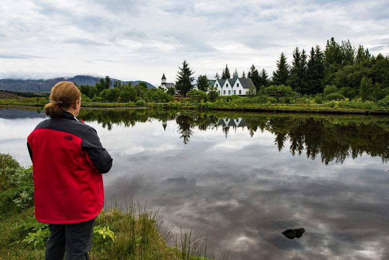 Looking across the Oxara River, Pingvellir