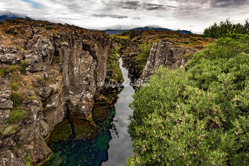 A gorge at Pingvellir
