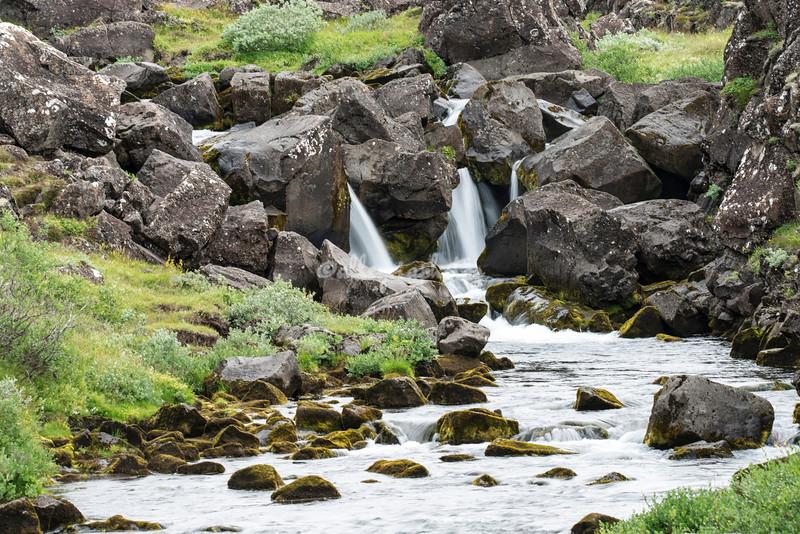 Waterfall, Pingvellir
