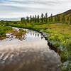 Reflections below Mossfellkirjhe, Iceland