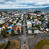 View from the roof of Hallgrimskirkja church, Reykjavik