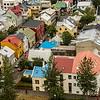 View from the roof of Hallgrimskirkja over Reykjavik