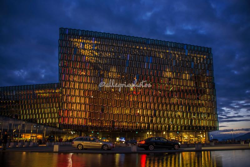 The Opera House by night, Reykjavik