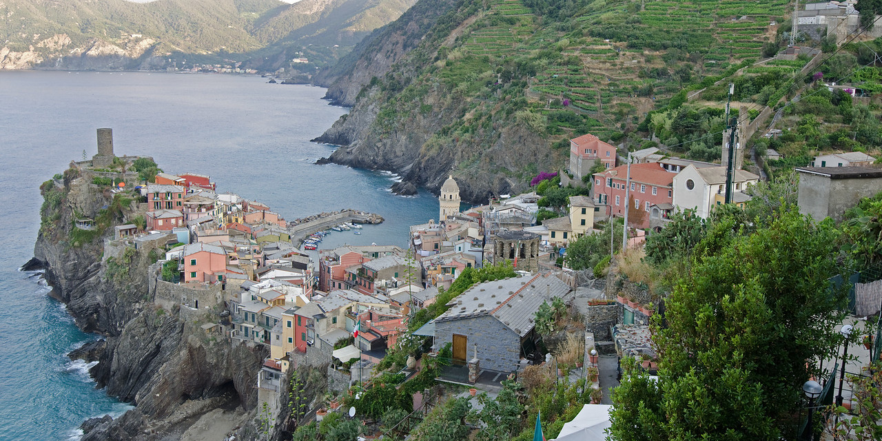 Vernazza<br /> <br /> From Trail #2 on the way to Corniglia (town #3)<br /> <br /> Cinque Terre, Italy