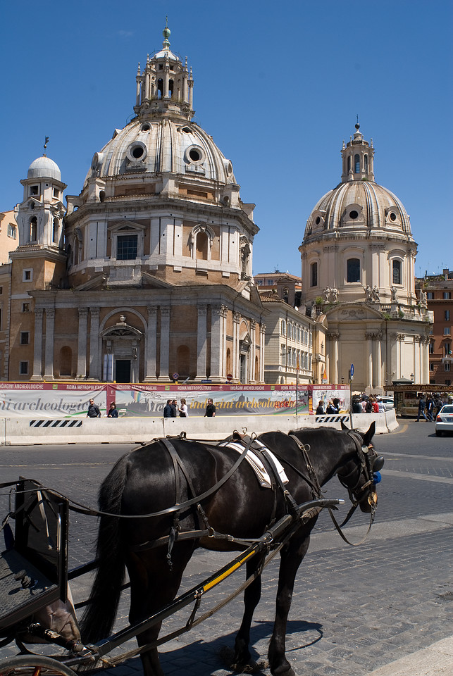 Horse and Carriage from Piazza Venezzia