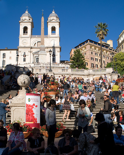 The Spanish Steps<br /> <br /> Where's Sarah?!