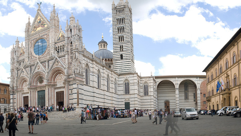 An attempt at a panoramic shot in Siena