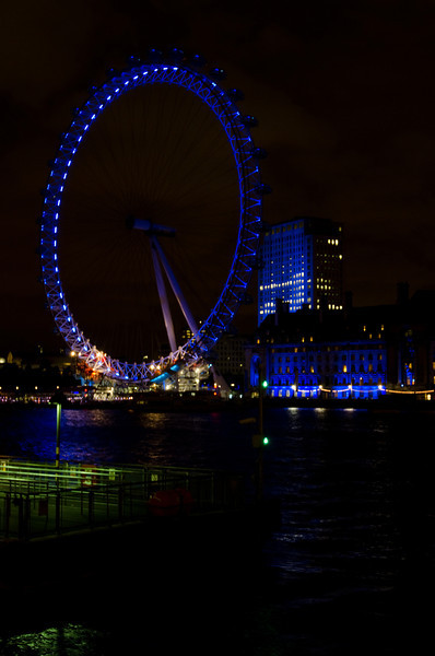 London Eye<br /> <br /> For only $30 a person you can take a 30 minute ride and see the whole of London.  A bit sarcastic, but definitely worth it at night. Lots of beautiful views to round out our last night in London.<br /> <br /> London, England