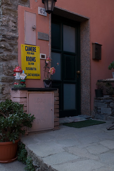 The Entrance to Hotel Elisabetta, aka a bed and breakfast without the breakfast.  No need for breakfast with that view, though!  Just head over to Il Pirata!