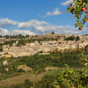 Civitella del Tronto with the largest fortress in Italy rising on the hilltop, Abruzzo