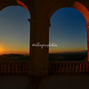 Sunrise through the Arches on the piazza at Civitella del Tronto, Abruzzo