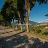 Tree lined road across from Civitella del Tronto, Abruzzo