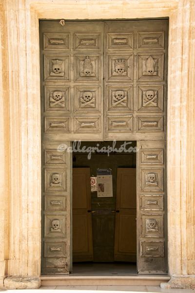 Doorway of the Chiesa del Purgatorio, Matera