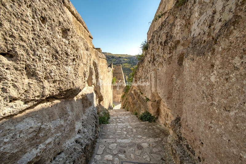 Ancient alleyway, Matera, Basilicata, Italy