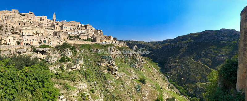 Panorama of Matera and the Gravina Valley