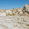 Graves uncovered in the rock, Matera, Basilicata, Italy