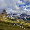 The Alpine meadow above Ortisei, Val Gardena, Dolomites, Italy
