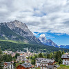 Overlooking the Ampezzana Valley and Cortina d'Amprezzo, Dolomites, Italy