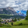 Overlooking the Ampezzana Valley and Cortina d'Ampezzo, Dolomites, Italy