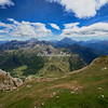 Panorama of the Dolomites from the Rifugio Lagazuoi, Italy