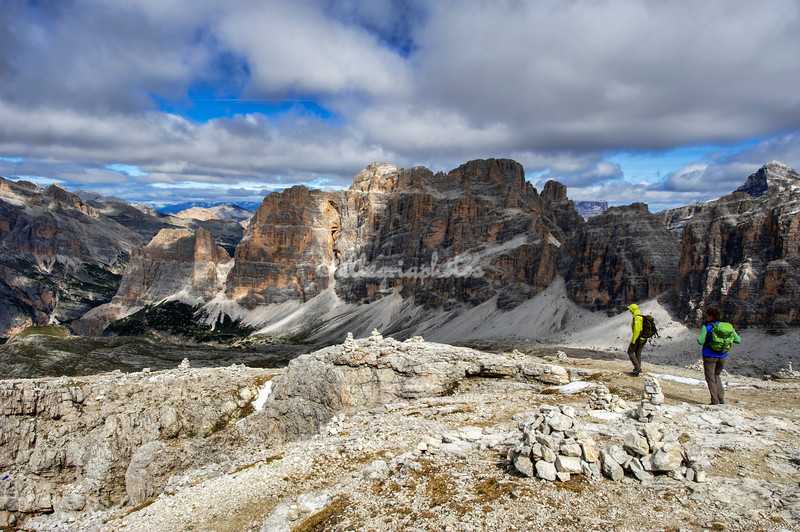 View of the Dolomites from the Rifuggio Lagazuoi, Italy