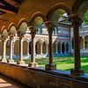 Cloister of the Abbazzia di Piona, Lake Como, Italy