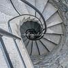 Spiral staircase in the Castello Doria, Vernazza, Liguria