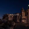 The fort and basilica by night, Camogli, Liguria