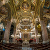The inside of the Basilica, Camogli, Liguria
