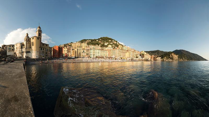Panorama of the Camogli waterfront, Liguria