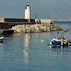 Fisherman by Camogli lighthouse