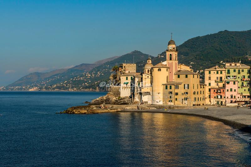 The Fort and Basilica at Camogli, Liguria