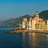 The Fort and Basilica at Camogli, Liguria