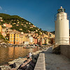 The Camogli lighthouse