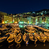 The Camogli marina by night, Liguria