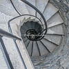 Spiral staircase in the Castello Doria, Vernazza, Liguria