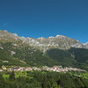 The Concarena Mountain Range over the Valley of Lozio, Italy